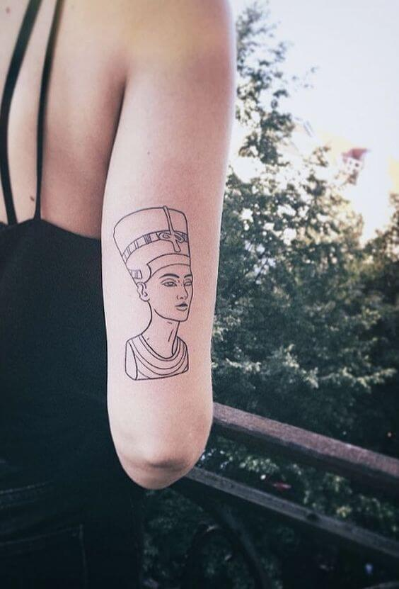 SIMPLE CLEOPATRA EGYPTIAN TATTOOS
