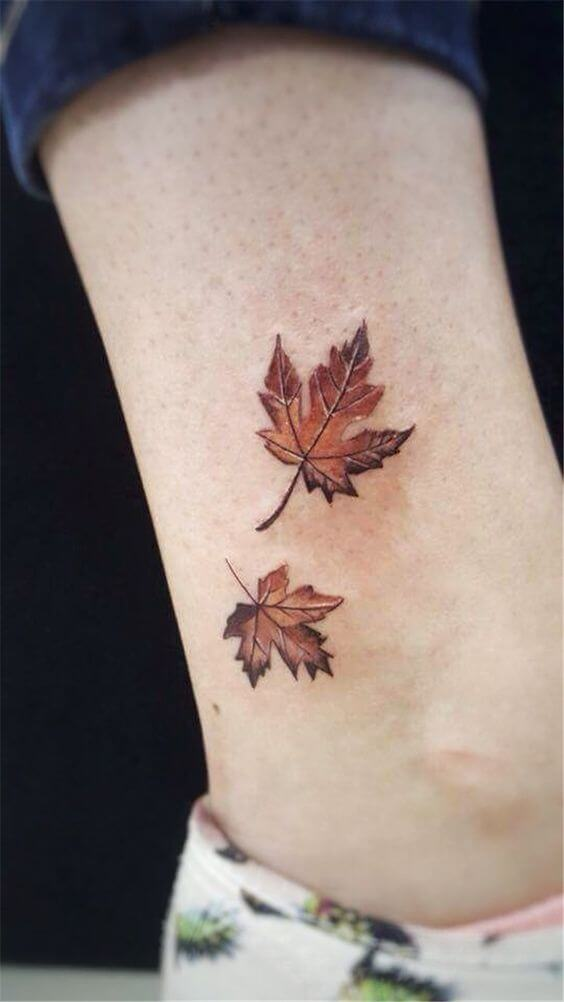 fall leaf tattoo