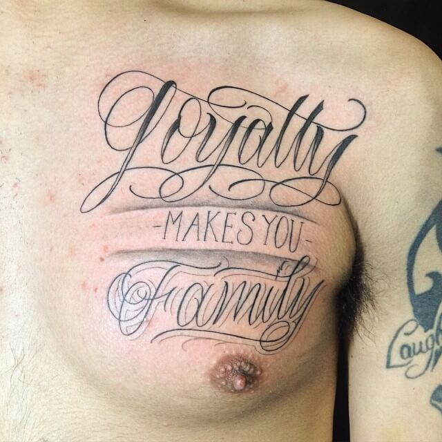 family loyalty tattoo