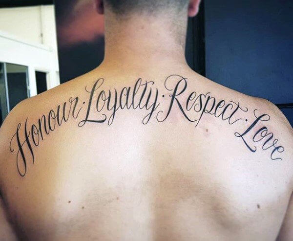 loyalty back tattoo