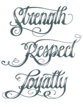 loyalty tattoo design draw