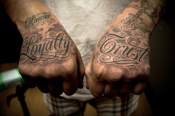 loyalty tattoo on hand