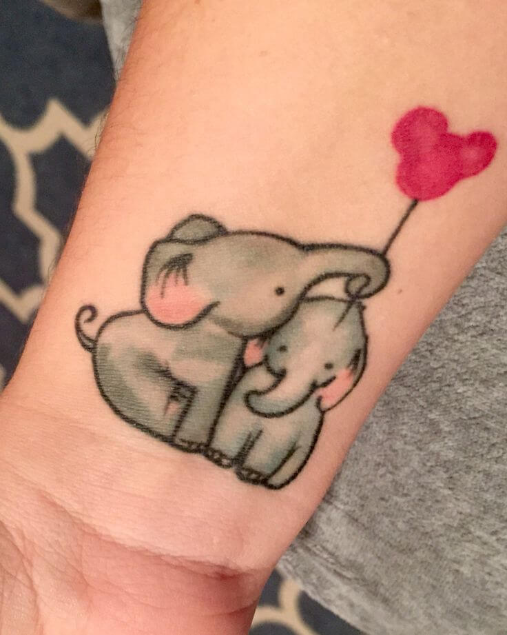 Elephants playing tattoo