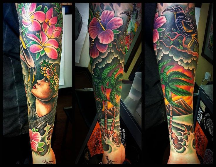 Hibiscus Tattoo Sleeve