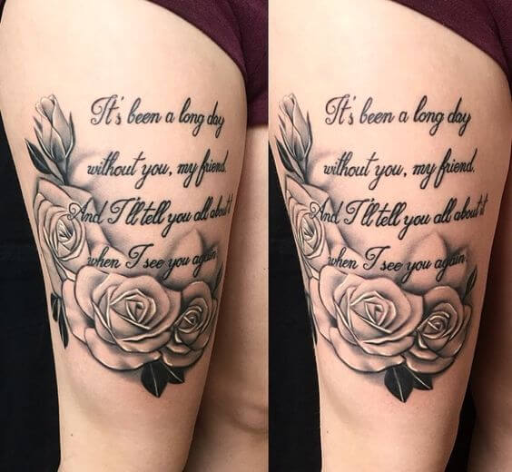 Quotes tight tattoo idea
