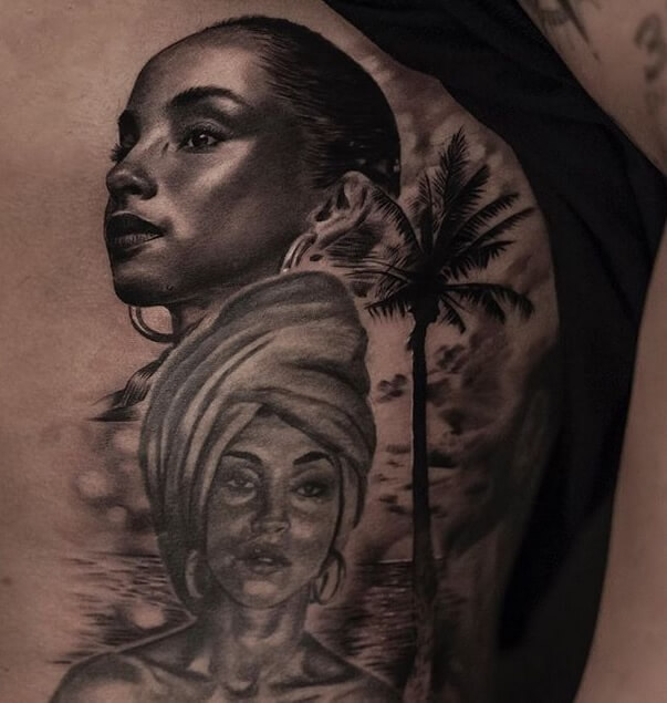 Sade Second Tattoo of Drake