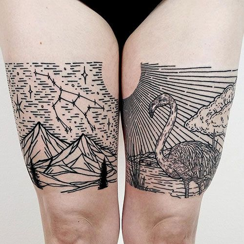 leg tattoo ideas for women