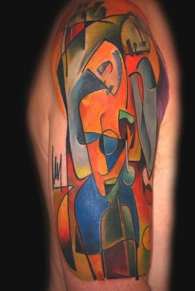 Top 20 Lovely and Modern Cubism Tattoos 4