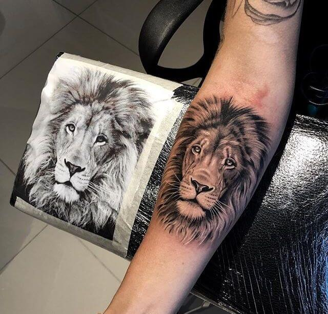 Top 31 Lion Tattoos - In diferent cultures 11