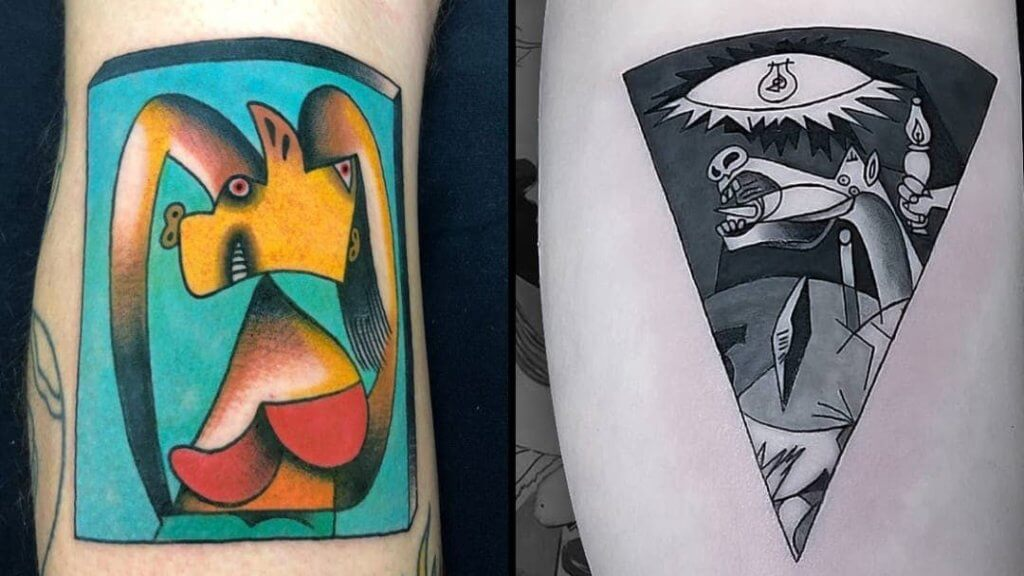Top 20 Lovely and Modern Cubism Tattoos 12