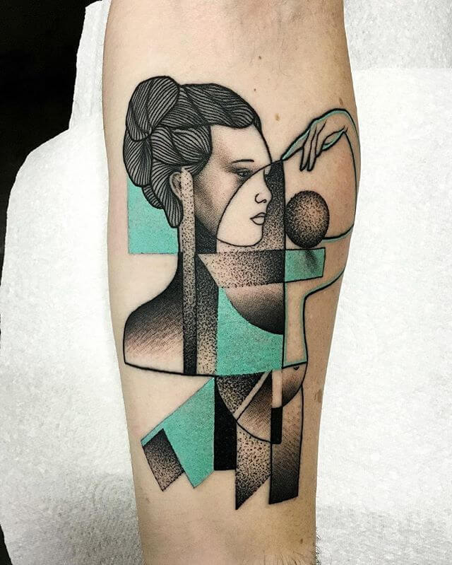 Top 20 Lovely and Modern Cubism Tattoos 6