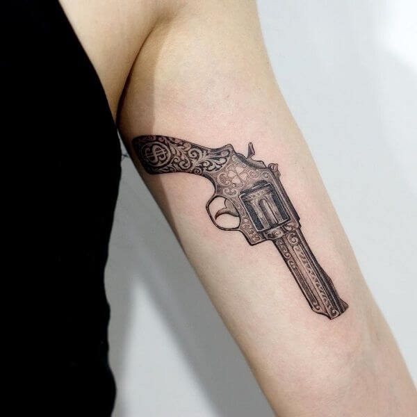 Powerful 20 Gun Tattoos: No Carry Permit Needed 2
