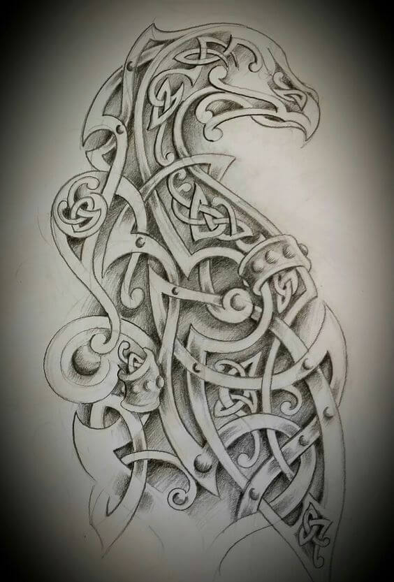 Celtic animal tattoo drawing
