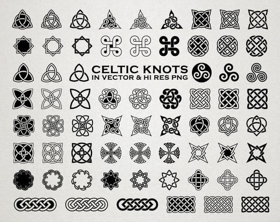 Tribal celtic signs