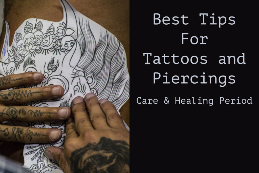 best tips for tattoos and piercing