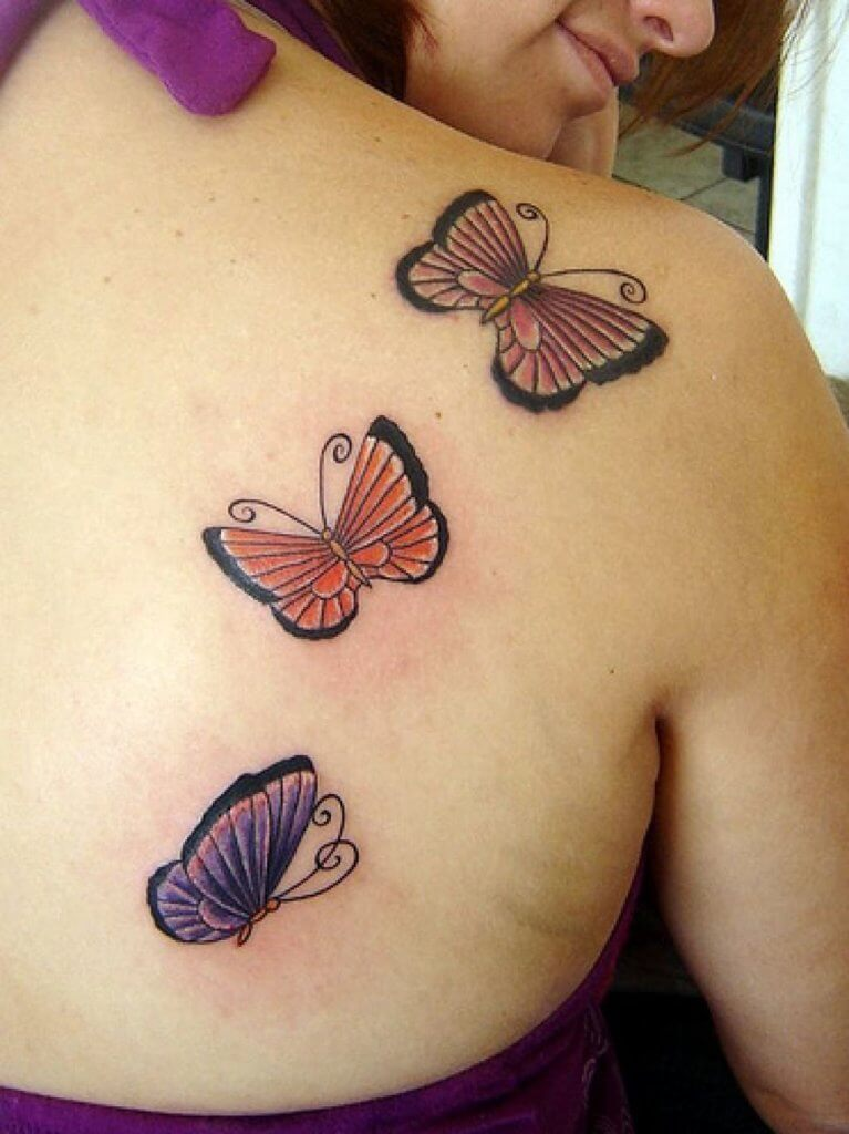 butterflies tattoos for women
