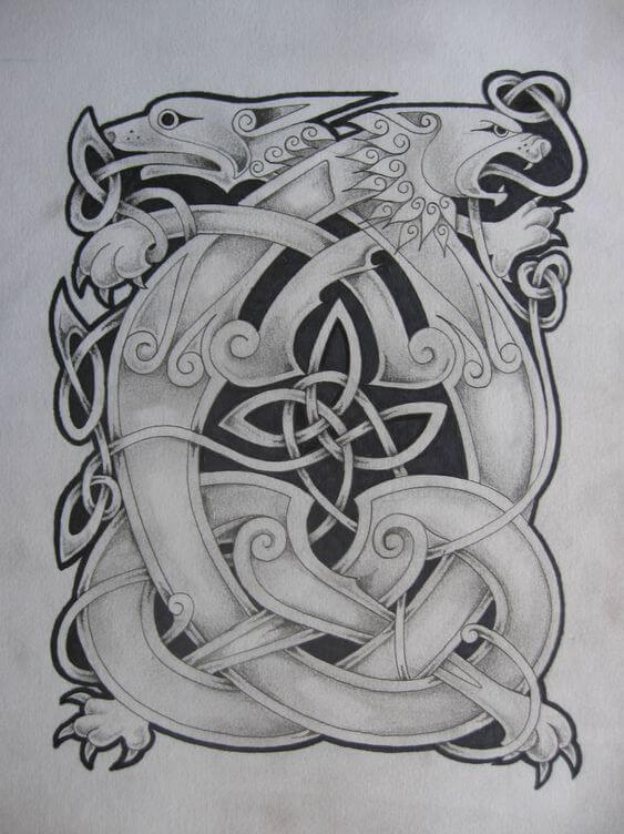 celtic lion tattoo
