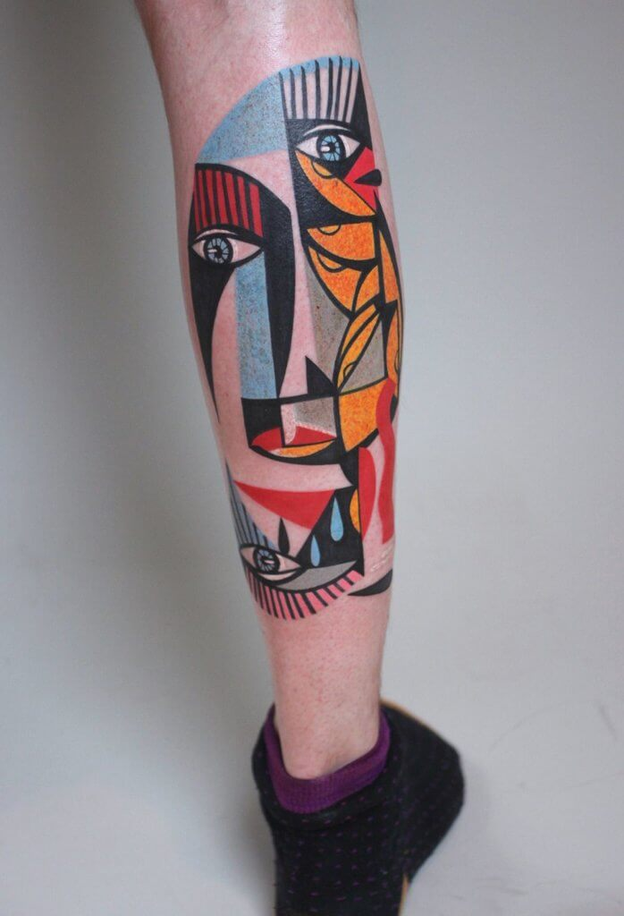 Top 20 Lovely and Modern Cubism Tattoos 20
