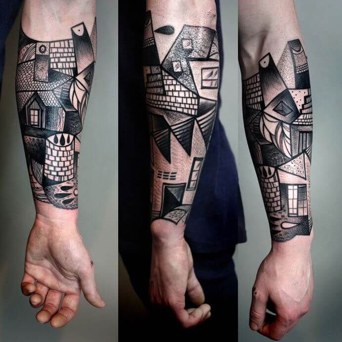 Top 20 Lovely and Modern Cubism Tattoos 21