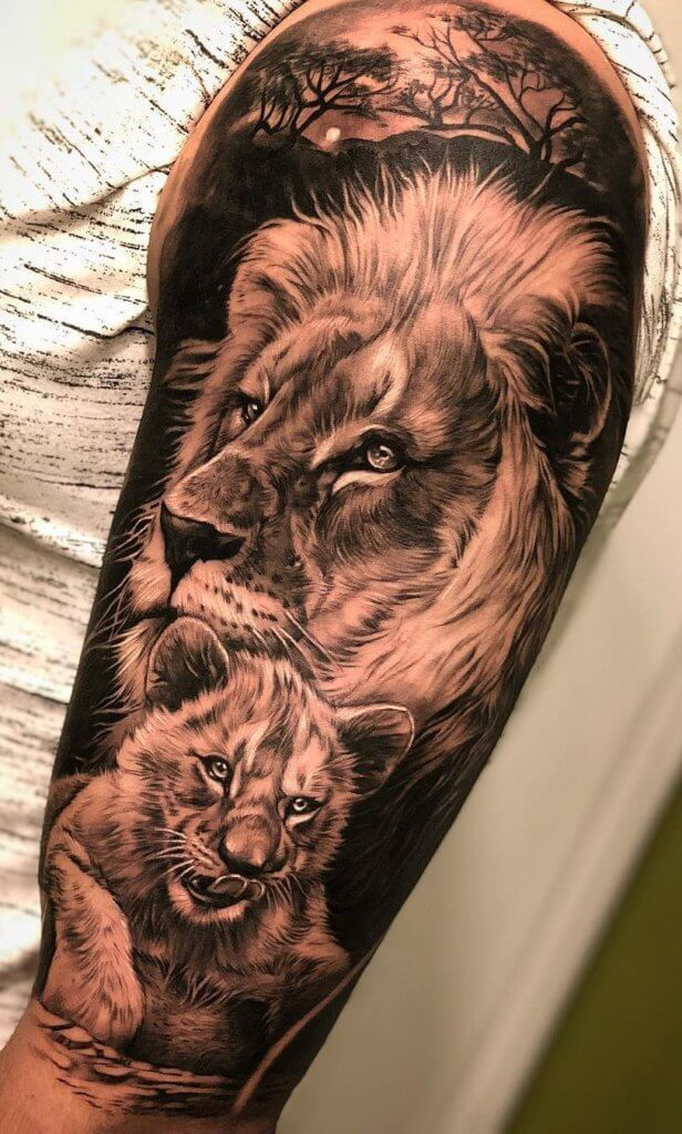 Top 31 Lion Tattoos - In diferent cultures 19