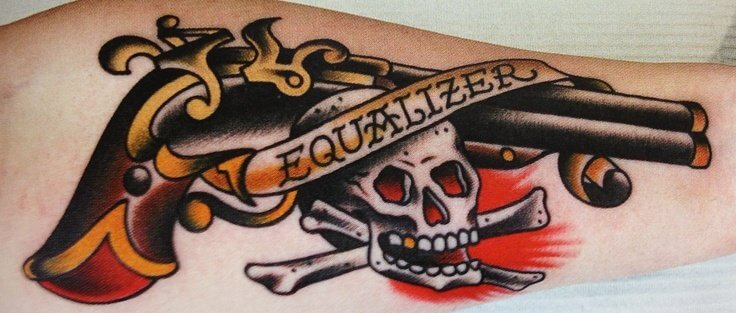 flintlock pistol tattoos