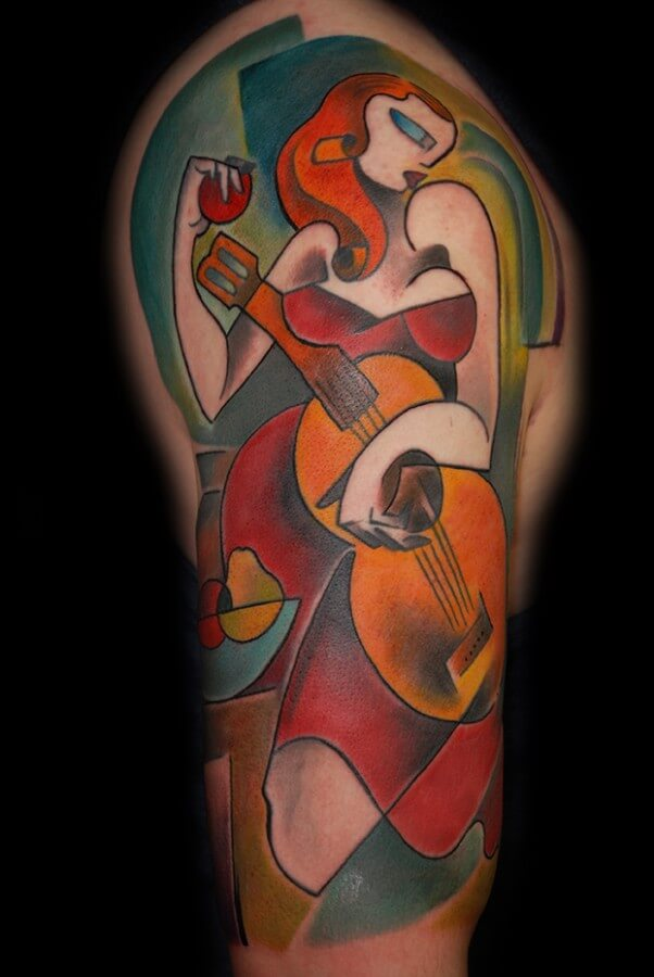 love cubism tattoo