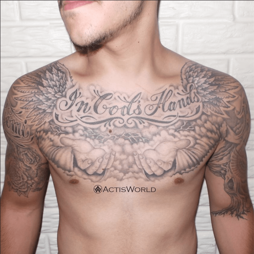 Powerful 58 Chest Tattoos ( With Gallery ) 18