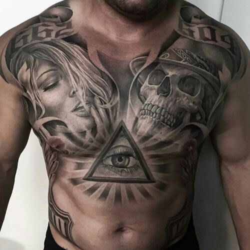 Powerful 58 Chest Tattoos ( With Gallery ) 4