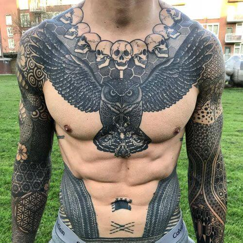 Powerful 58 Chest Tattoos ( With Gallery ) 21