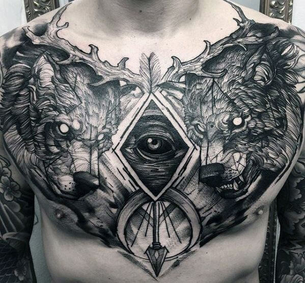 Powerful 58 Chest Tattoos ( With Gallery ) 25