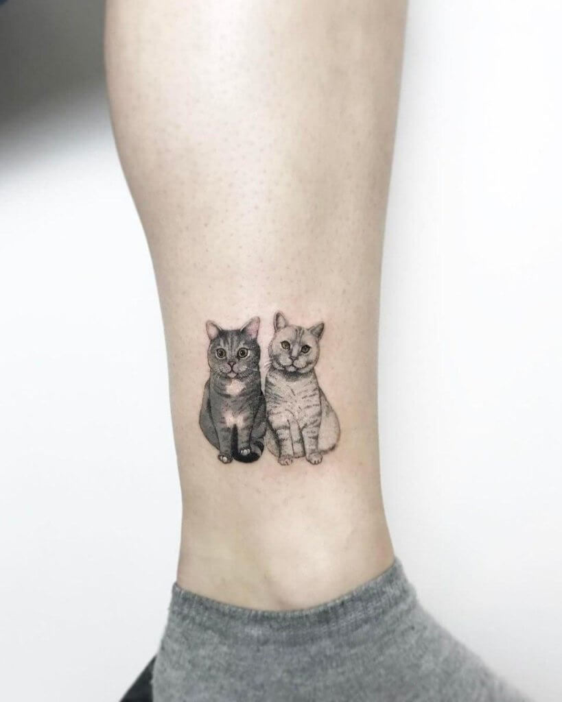 Lovely 45 Cat tattoos ( Meanings and Gallery ) 8