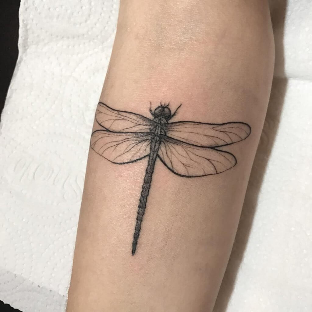 Most Beautiful 17 - Dragonfly Tattoos 5