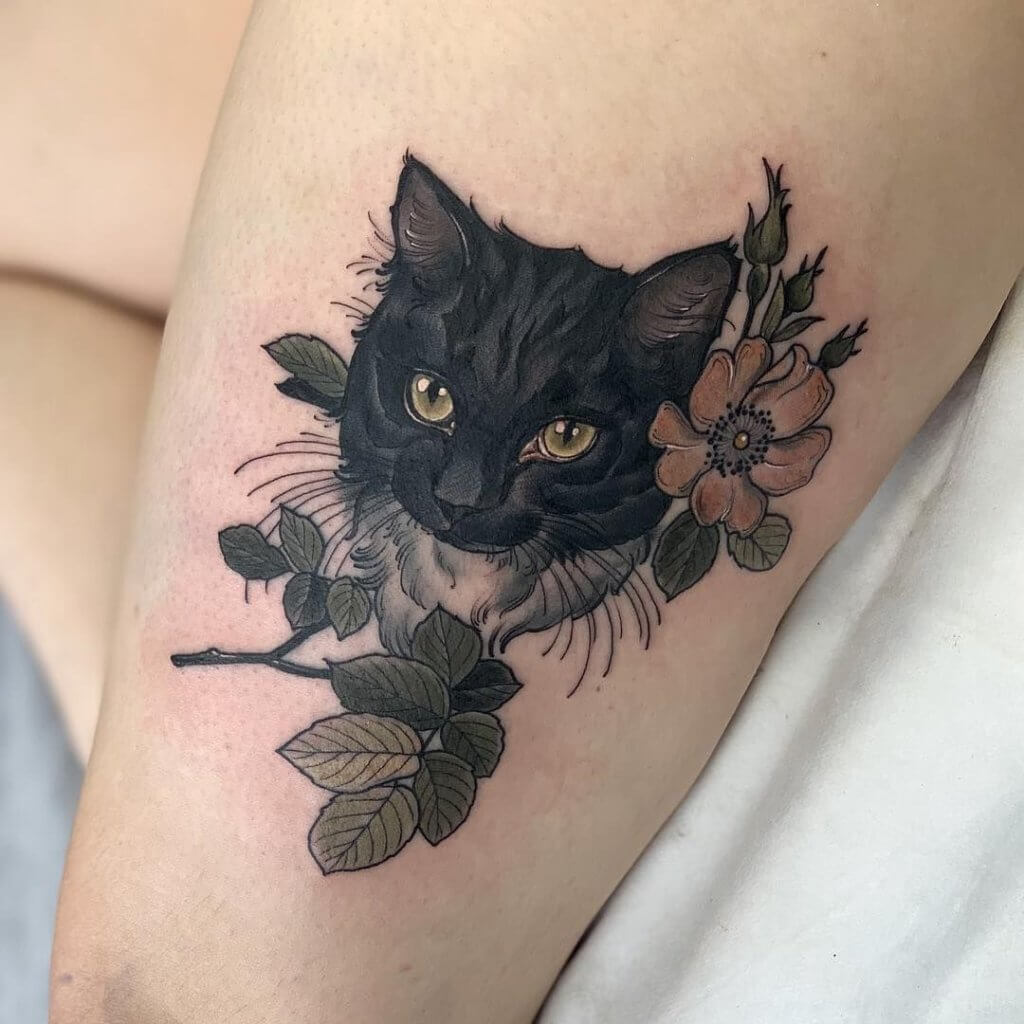 Lovely 45 Cat tattoos ( Meanings and Gallery ) 18