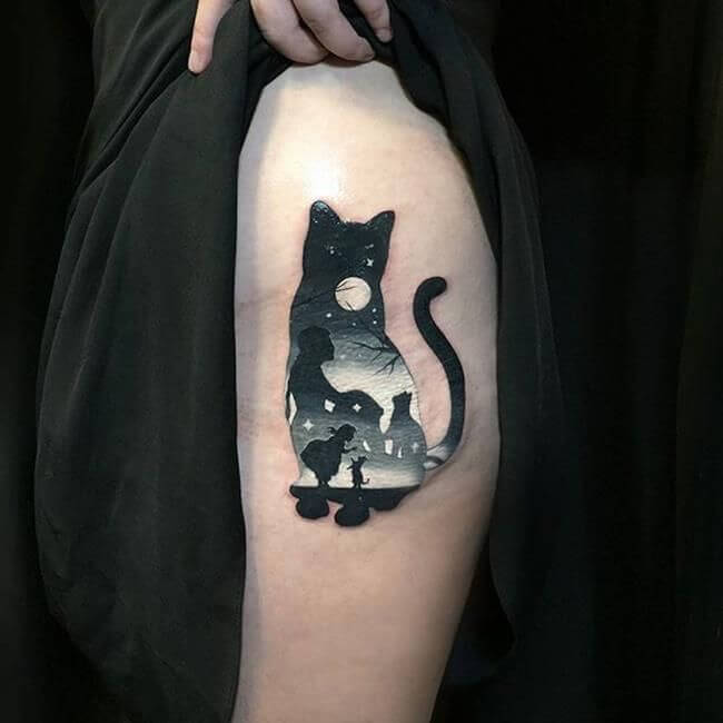 Lovely 45 Cat tattoos ( Meanings and Gallery ) 5