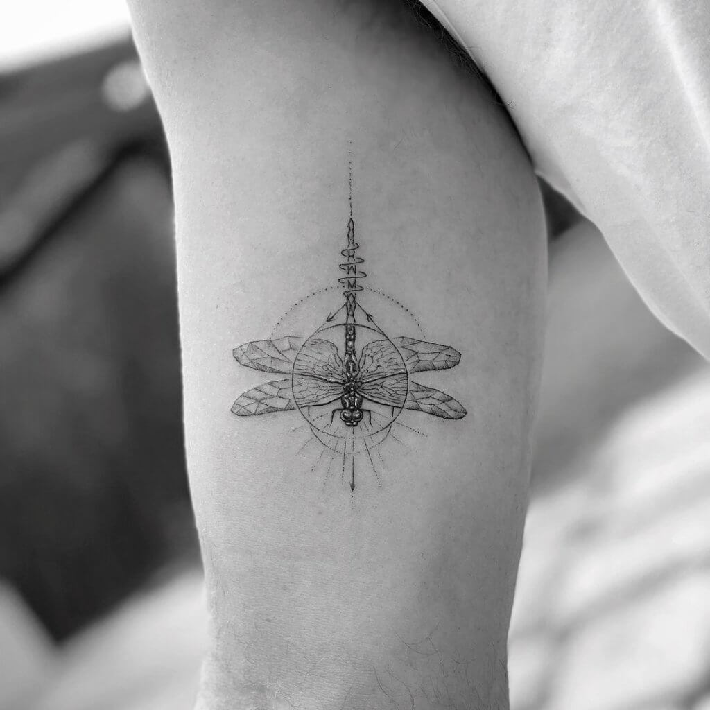 Most Beautiful 17 - Dragonfly Tattoos 2