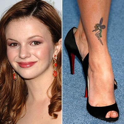 Amber Tamblyn fairy tattoo