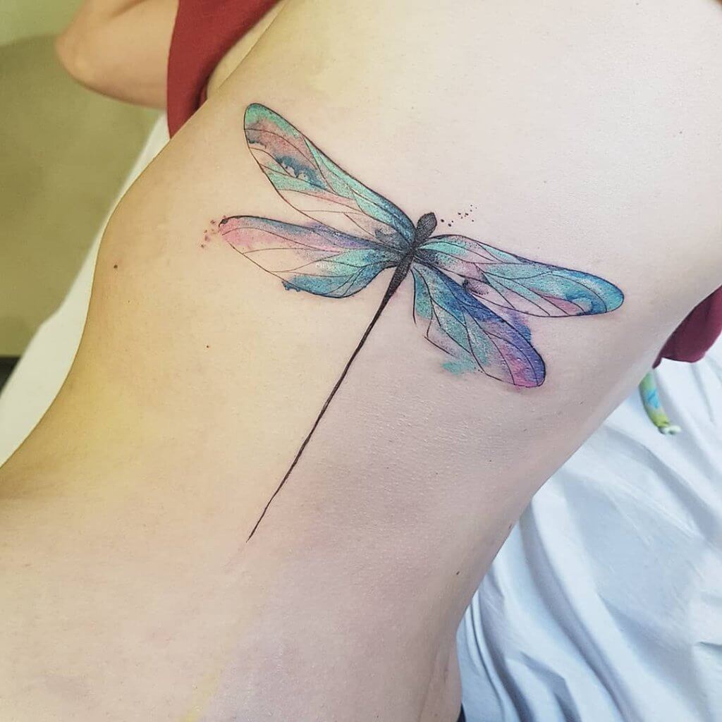 Most Beautiful 17 - Dragonfly Tattoos 9