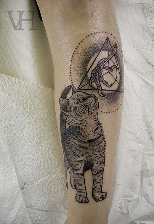 Lovely 45 Cat tattoos ( Meanings and Gallery ) 24