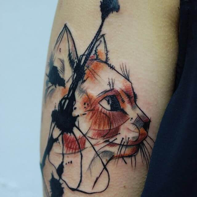 Lovely 45 Cat tattoos ( Meanings and Gallery ) 25