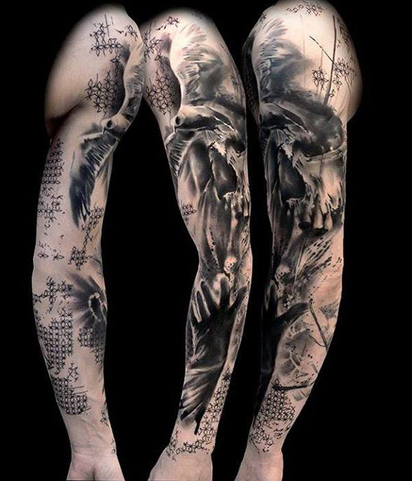 150+ Great Sleeve Tattoos and Selecting Designs 149
