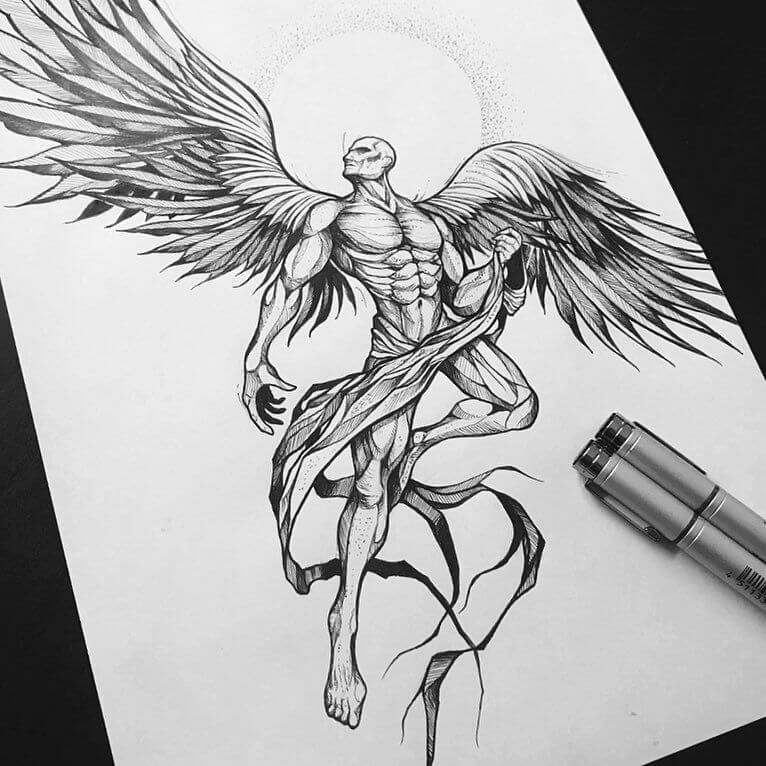 How to Reinvent the Ordinary Angel Tattoo 11