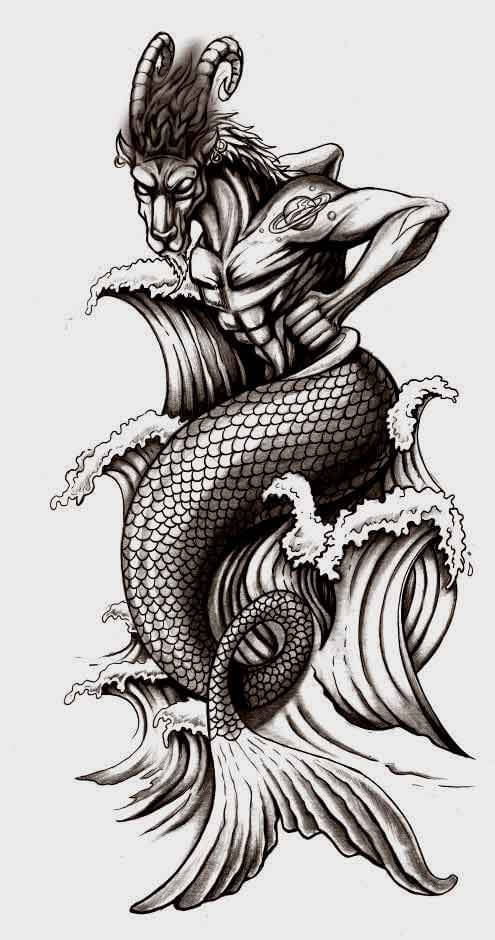 70 Lovely Capricorn Zodiac Tattoos - With Gallery 15