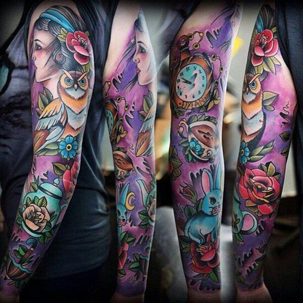 150+ Great Sleeve Tattoos and Selecting Designs 127