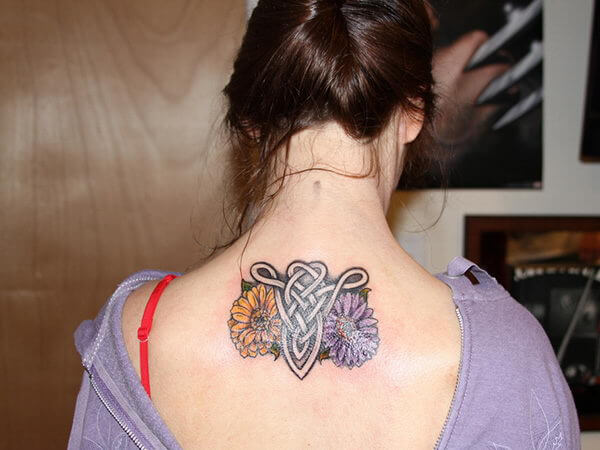 Celtic Aries Tattoo on back