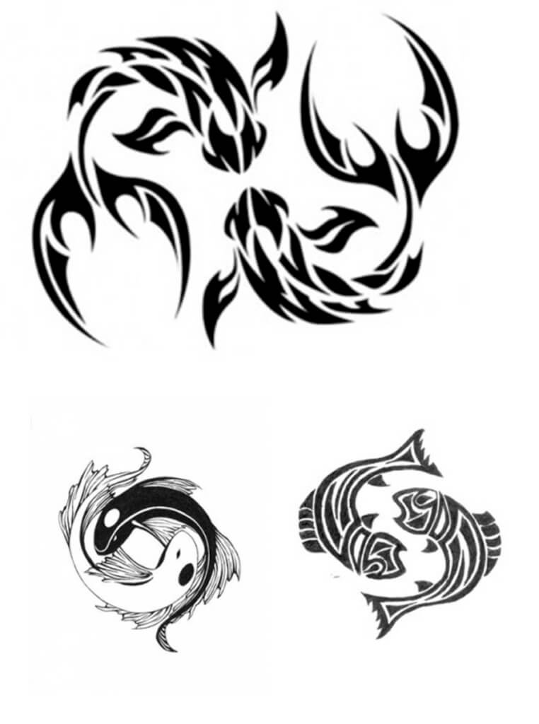 Pisces Tattoos Designs