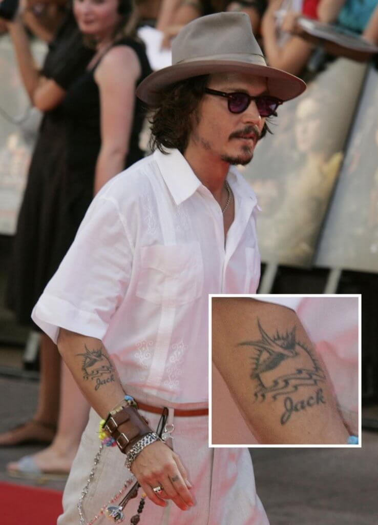 johnny depp jack sparrow tattoo