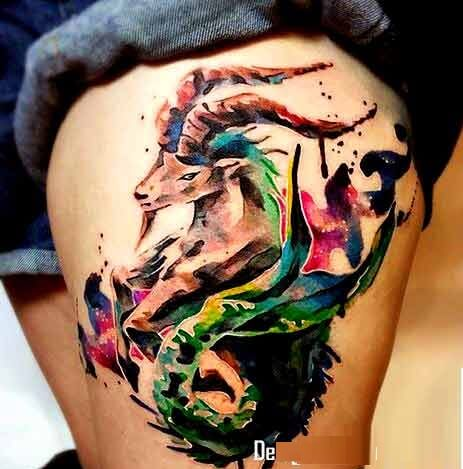 70 Lovely Capricorn Zodiac Tattoos - With Gallery 8