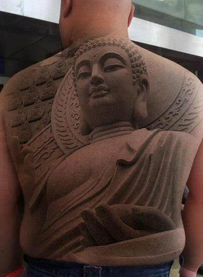 Buddha Back Tattoo 3d