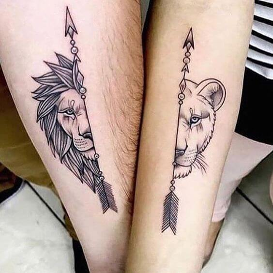 Tattoo Divided For Couples