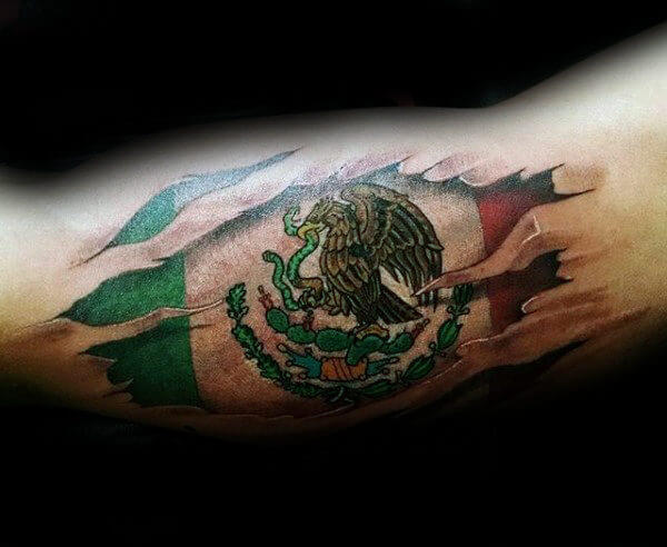 Mexican Flag Tattoo